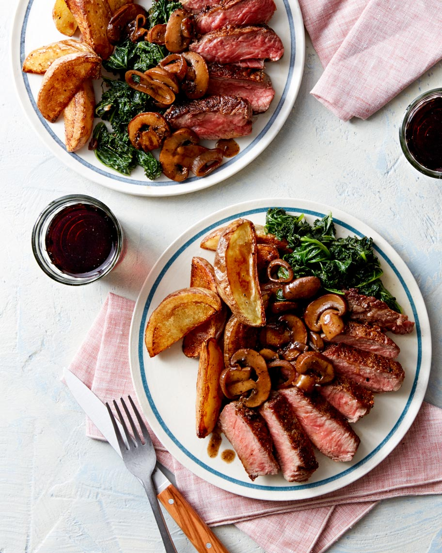 Mushrooms-Steak-Potatoes-Wine-Meal-Dinner-Blue-Apron