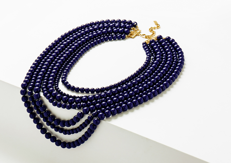 Navy-Beaded-Necklace-Strands-Fall
